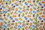 alles-meine.de GmbH 1 m * 1,1 m Stoff Puzzle Baumwolle