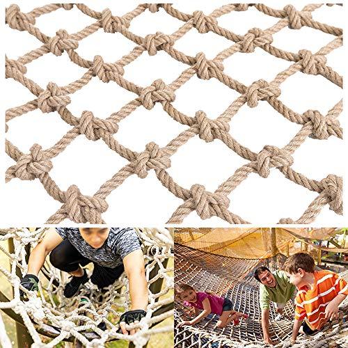 SSCYHT Escalera de Cuerda para trepar árboles para niños - Red de Escalada para Parques Infantiles al Aire Libre/Interior - Adecuada para Pintura de jardín o Pared,3 * 5m