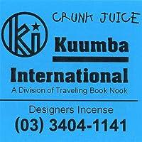 KUUMBA/クンバ『incense』(CRUNK JUICE) (Regular size)
