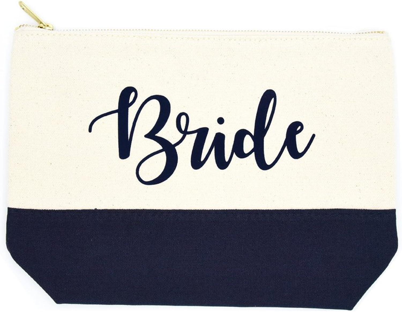PumPumpz Wedding Gifts Mrs. Est. 20182019  Bride  Makeup Bag With Ykk Zipper.