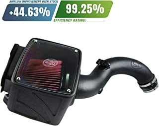 S&B Filters 75-5101 Cold Air Intake For 2001-2004 Chevy/GMC Duramax LB7 6.6L (Oiled Cleanable, 8-ply Cotton Filter)