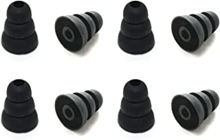 8 Pcs Large (L) Black Triple Flange Replacement Eartips Earbuds for Monster Beats Dr. Dre Tour, urBeats, Powerbeats and LG Tone