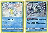Evolution Set - ALOLAN Sandslash & ALOLAN Sandshrew - 20/145 Sun Moon Guardians Rising - Rare Card LOT