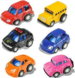CORPER TOYS Pull Back Vehicles Mini Diecast Toy Model Cars Gift Play Set for Toddlers Boys & Kids - 6 pieces