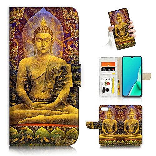 for iPhone 8 Plus, for iPhone 7 Plus, iPhone 6 Plus, iPhone 6s Plus, Designed Flip Wallet Phone Case Cover, A24383 Buddha
