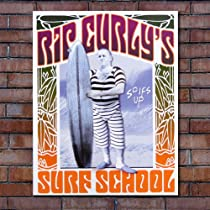 メタルサイン【Rip Curl Surf school/リップカール・サーフスクール】#1196 (40.5×31.7cm)