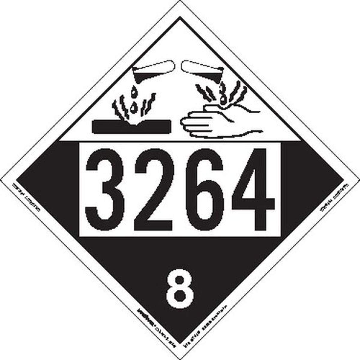 Labelmaster ZEZ43264 UN 3264 Corrosive Remov E-Z outlet Placard Hazmat Sales results No. 1