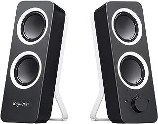 Logitech Z200 Altoparlanti per PC, Audio Stereo Completo, 10 Watt, 2 Ingressi Audio 3.5 mm, Jack per Cuffie, Bassi Regola...