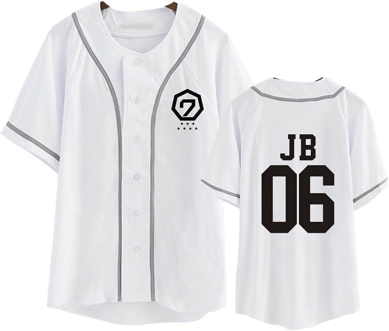 DHSPKN GOT7 Baseball Jersey Fly in Seoul T-Shirt JB Jackson Bambam Mark Yugyeom Tee