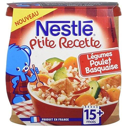 NESTLE P'tite recette légumes poulet basquaise - 2 x 200g