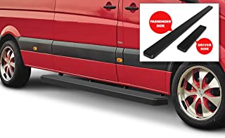 APS iBoard Running Boards (Nerf Bars Side Steps Step Bars) Compatible with 2007-2009 Dodge Sprinter Full Size Van & 10-19 Mercedes-Benz Sprinter (Black Powder Coated 6 inches)