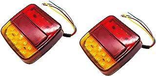 24V L/ámpara Lateral de Remolque Advertencia de Doble cara Luz roja Blanca para Cami/ón RV Caravana 2X 6 luces de Marcador laterales LED 12