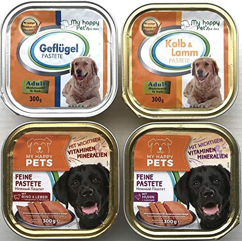 Hundefutter Adult 4 Sorten Pastete/Pate 54 x 300g