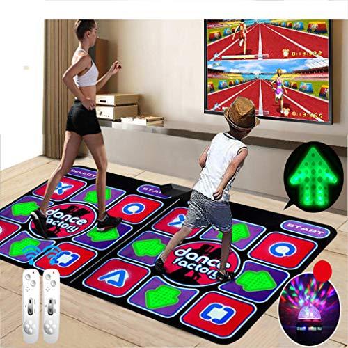 Yuaty Doppel Somatosensory Tanzmatte Multifunktionale HD Verdickte Griffige Tanz-Auflage-Yoga-Eignung-TV Computer-Dual-Use Für Erwachsene Kinder