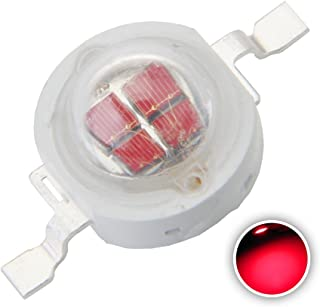 Chanzon 10 pcs High Power Led Chip 5W Red (1200mA/DC 2V-2.4V/5 Watt) Super Bright Intensity SMD COB Light Emitter Components Diode 5 W Bulb Lamp Beads DIY Lighting