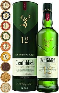 Flasche Glenfiddich 12 Jahre Single Malt Whisky  9 Edelschokoladen in 9 Sorten