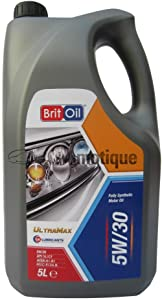 PEUGEOT 206 BRITOIL FULLY SYNTHETIC ENGINE OIL 5W30