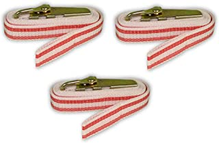 Creative Hobbies BST7 Banding Straps for Plaster Molds and Other Banding Applications, 7 Feet Long, Red, Pack of 3 Straps
