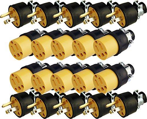 Black Duck Deals - Cable de extensión para enchufes eléctricos (macho y hembra)