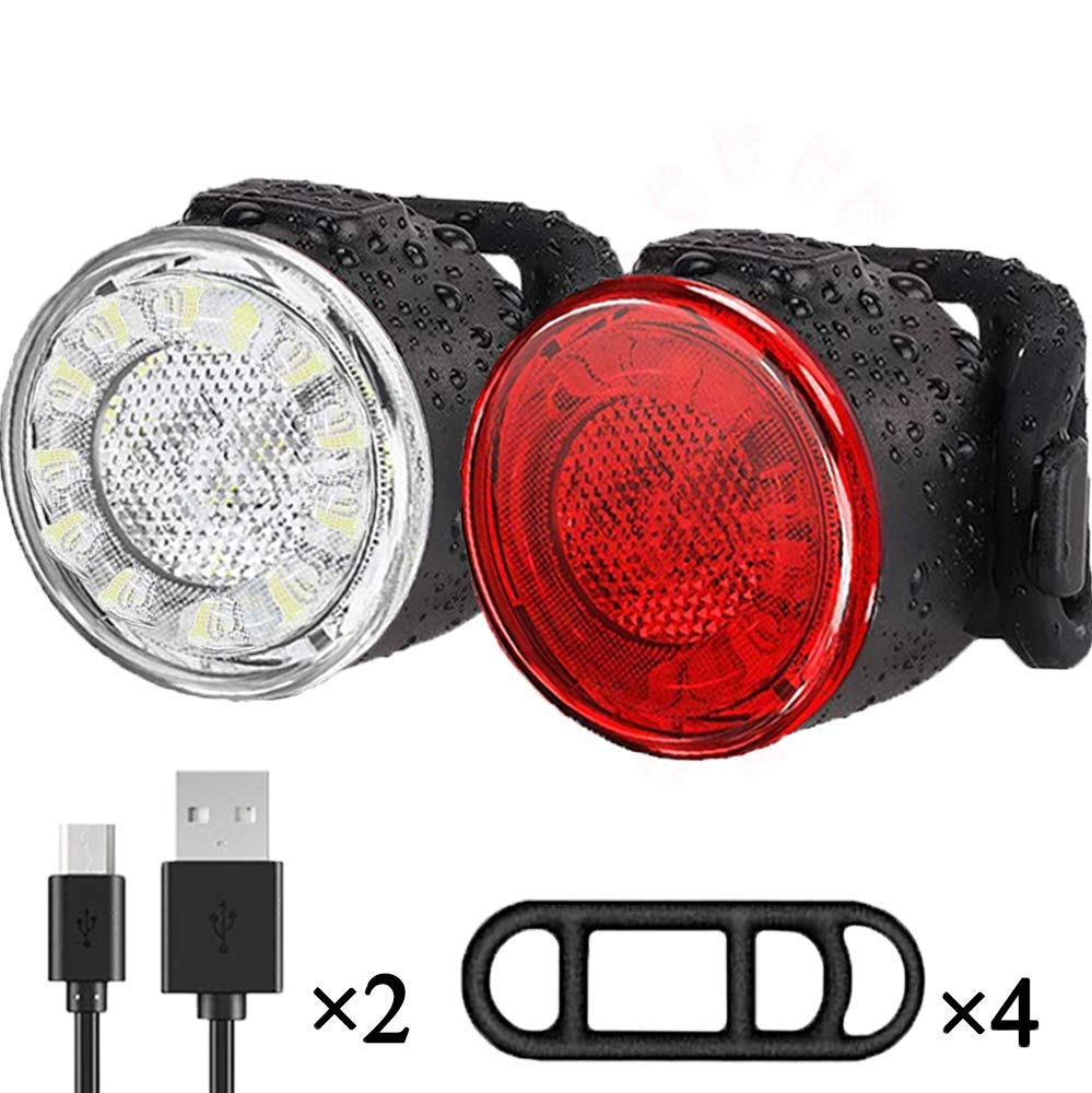 Luces Bicicleta Kit, Impermeable LED Luz Bicicleta, luces ...