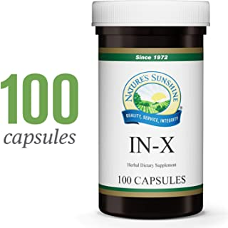Nature's Sunshine in-X, 100 Capsules   Herbal Blend That Supports The Immune System, Supports The Digestive Systems, and Helps Maintain Microbiological Balance