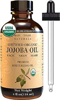 Organic Jojoba oil (4 oz), USDA Certified, Cold Pressed Unrefined Hexane Free Moisturizer Oil for Hair Skin & Face Carrier...