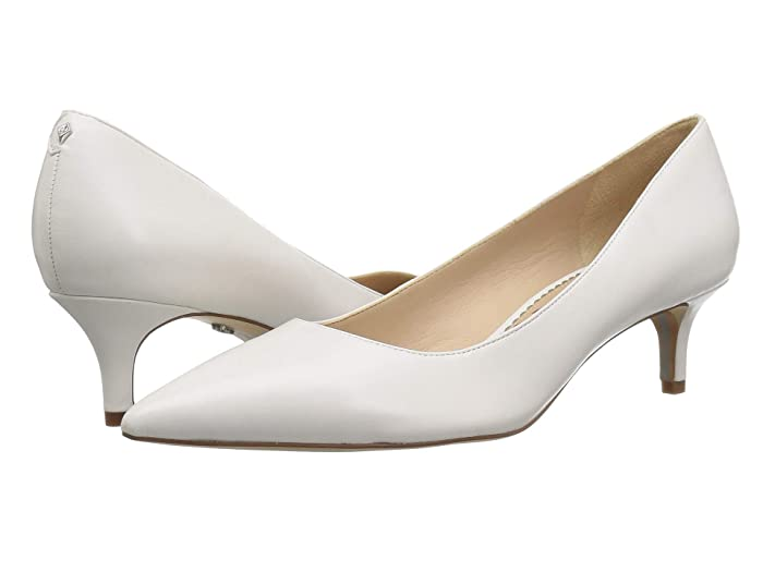 1950s Clothing Sam Edelman Dori Bright White Dress Nappa Leather Womens Shoes $119.95 AT vintagedancer.com