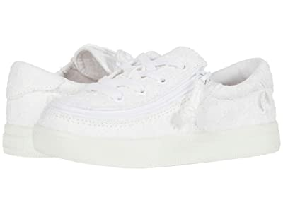 BILLY Footwear Kids Classic Lace Low (Toddler) (White Eyelet) Girl
