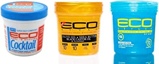 [ECO STYLER] PROFESSIONAL STYLING GEL COMBO SET (SPORT&SHEA-BUTTER&COCKTAIL)