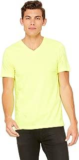 mens Unisex Jersey Short-Sleeve V-Neck T-Shirt(3005)-NEON YELLOW-XL