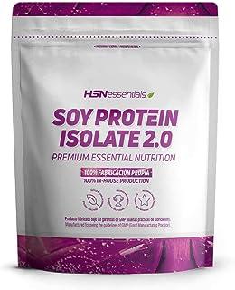 Proteína de Soja de HSN Essentials | Proteína Vegana | Soy Isolate Protein | Sin Gluten, Sin Colesterol, Sin Lactosa, Sabor Vainilla, 2000g