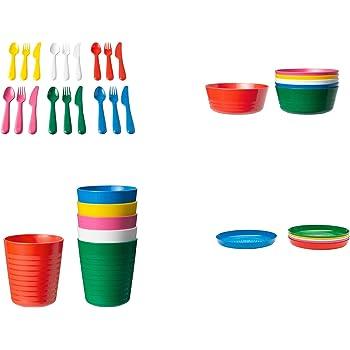 NEW KALAS キッズ食器フルセット 36ピースセット プラスチック製 IKEA