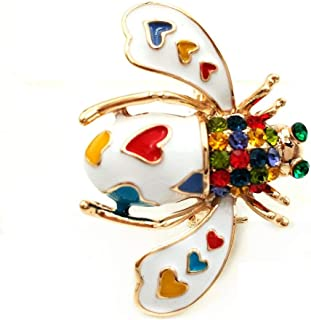Victorian Style Mother of Pearl Body and Micro Pave Insect and Aninmal Brooch Pins