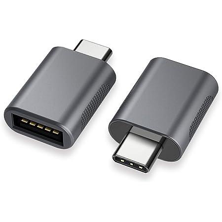 nonda Adaptador USB C a USB 3.0 (2 Pack), Adaptador USB-C a USB, USB Tipo-C a USB, Thunderbolt 3 a Adaptador USB hembra OTG para MacBook Pro 2020/19/18, MacBook Air 20/19/18 y Más dispositivos tipo C