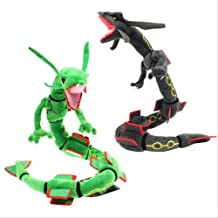 Soft Plush Toy, Long Tail Dragon ,80 Cm,plush Toy Mega Rayquaza ,stuffed Animal Pikachu Cartoon Figures Doll 2 in 1 (Color : 2 in 1)