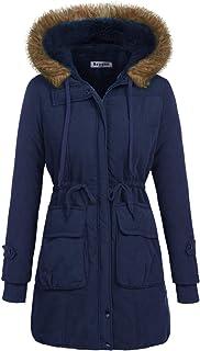 معطف شتوي للنساء من Beyove معطف عسكري بغطاء رأس دافئ من الفرو الصناعي جاكيت باركا أنروك معاطف طويلة S-XXL