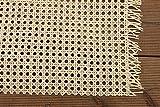 rattan-petrak 1 lfd. Mtr. Stuhlgeflecht (B 45cm), Heizkörperverkleidung, Wiener Geflecht (Natur hell), Wabengeflecht aus Stuhlflechtrohr, Flechtrohrgewebe, in den Breiten 45, 60 od. 90cm