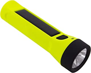 Hybridlight Journey - Solar/Rechargeable 160 Lumen LED Waterproof Flashlight. High/Low Beam, USB Cell Phone Charger, Built in Solar Panel Charges Indoors or Out, USB Cable Included for Quick Charge