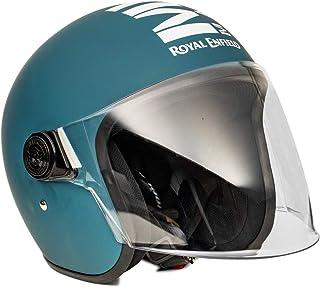 Royal Enfield - HESS20022 Open Face with Visor Matt Squadron Blue ABS Helmet, (L)58 CM