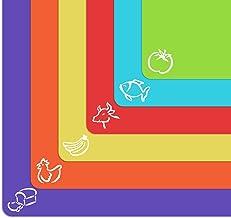 Alfombrillas de plástico flexible extra gruesas con iconos de comida y parte trasera de gofre EZ-Grip, juego de 6 unidades...