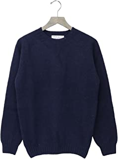 (インバーアラン) INVERALLAN『Crew Neck Sweater-Saddle』(New Navy)