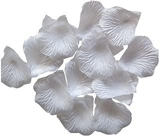 Dxhycc 1000pcs White Silk Rose Petals Artificial Flower Wedding Party Vase Decor Bridal Shower Favor Centerpieces