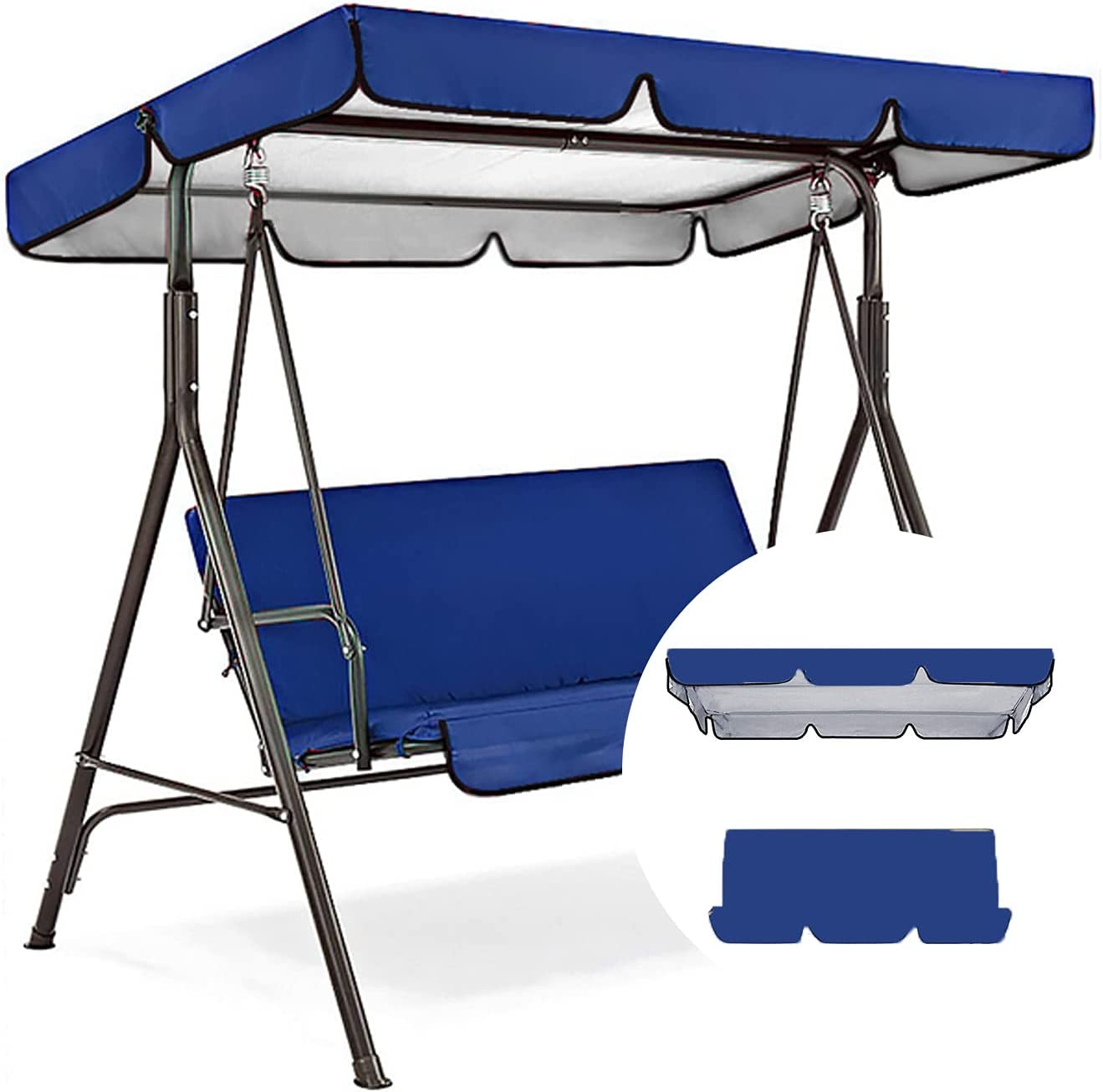 Max 56% OFF Outdoor Swing Max 51% OFF Canopy Replacement Cover 3 Cushion S
