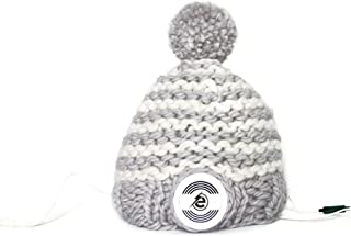 Earebel Unisex Hand Knitted Bobble Hat Beanie with Removable AKG Headphones, Skudde