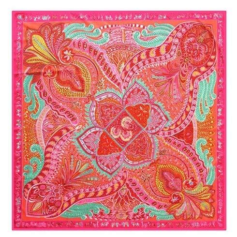 YDMZMS sjaal van zijde, 100% voor dames, grote sjaaltjes met opdruk van Marca Bandana sjaal, halsdoek voor dames, 130 x 130 cm, 18-8