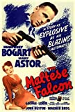 The Maltese Falcon Movie Poster (36 x 24 Inches - 90cm x 60cm) (1941) Style B -(Humphrey Bogart)(Mary Astor)(Peter Lorre)(Sydney Greenstreet)(Ward Bond)(Barton MacLane) -  MG Poster
