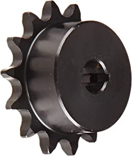 "Tsubaki 41B14FH Finished Bore Sprocket, Single Strand, Inch, #41 ANSI No., 1/2"" Pitch, 14 Teeth, 1/2"" Bore"