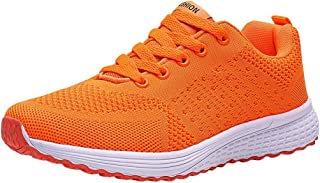 Women Colorful Athletic Trail Running Shoes Air Mesh Weaving Casual Sport Tennis Shoes