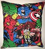 Marvel Block Kissen Hulk, Iron Man, Captain Amerika, Thor, Spider-Man, handgemachte in den USA...