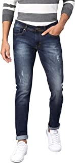 Men's Slim Fit Stretchable Jeans True Indigo Blue